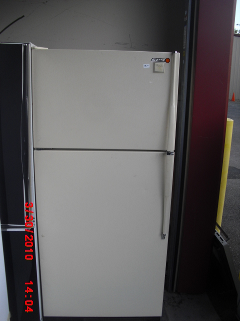basic white freezer top refrigertor
