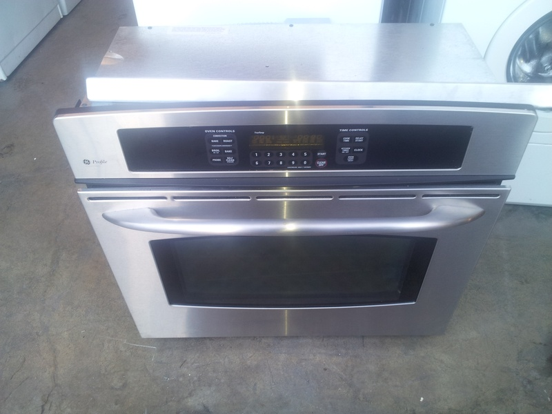 "30"" GE profile stainless conv. wall oven"