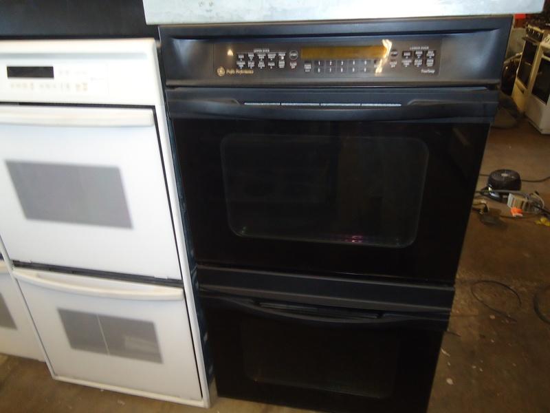 Ge profile double, upper conv. blck wall oven