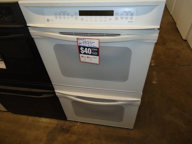 """30"""" white GE profile upper conv. elec double wall oven"""