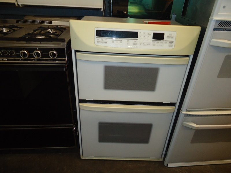 "Kitchen aid off white 30"" microwave wall combo"