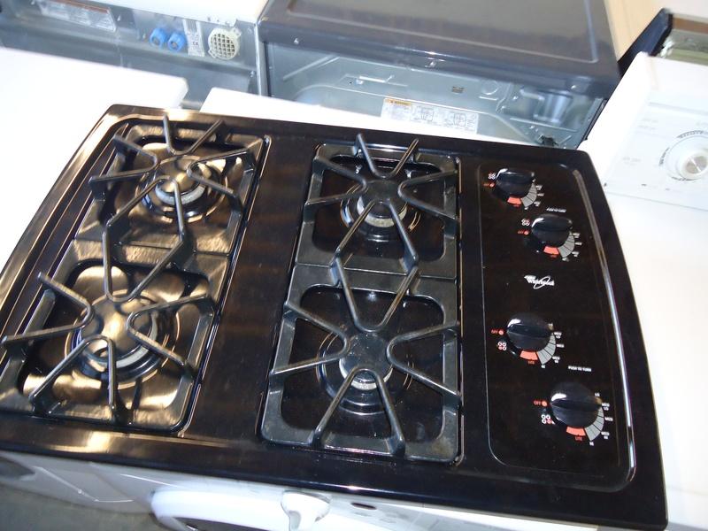 Whirlpool black cooktop