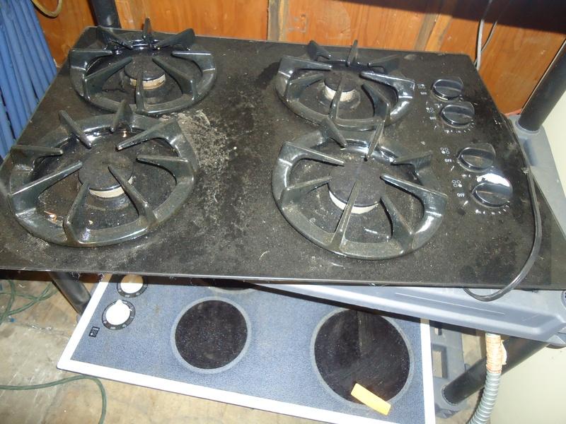 """GE gas black 30"""" cooktop"""