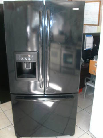 Bottom freezer black french door